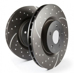 EBC 3GD Sport Dimpled And Slotted Discs / Rotors - Front