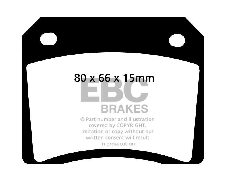 EBC GreenStuff Rear Brake Pads for Jaguar E-Type 4.2 265 68-71 DP2101