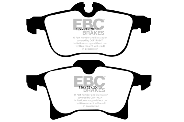 EBC GREENSTUFF FRONT PADS DP21520 FOR VAUXHALL CORSA 1.6 TURBO VXR 190 BHP 2006