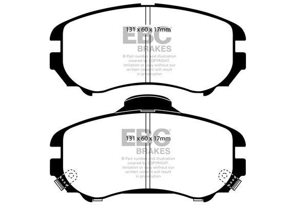 EBC Brakes DP21643 Greenstuff 2000 Series Sport Brake Pad