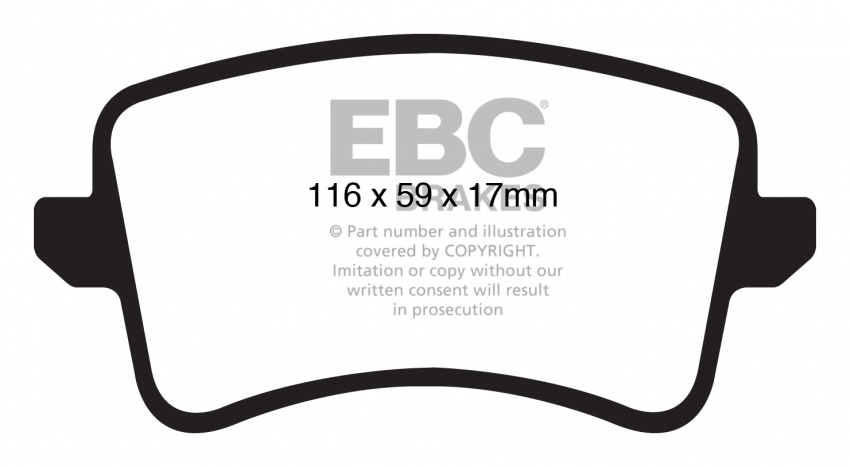 EBC REDSTUFF REAR PADS DP31988C FOR AUDI S5 3.0 SUPERCHARGED 333 BHP 2009