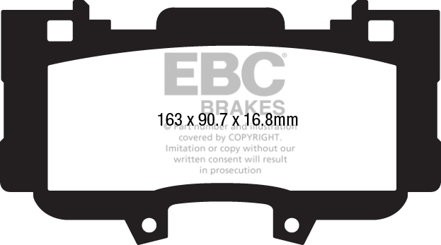 EBC Brakes DP3978C Redstuff Ceramic Low Dust Brake Pad
