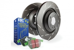 EBC Brakes Greenstuff Pad and USR Slotted Disc Kit