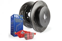 EBC Brakes Redstuff Pad and BSD Slotted Disc Kit