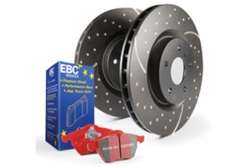 EBC Brakes Redstuff Pad and GD Slotted/Dimpled Disc Kit - FRONT