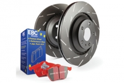 EBC Brakes Redstuff Pad and USR Slotted Disc Kit