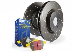 EBC Brakes Yellowstuff Pad and GD Slotted/Dimpled Disc Kit
