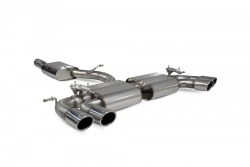 Scorpion VW Golf R MK7.5 (facelift) Resonated cat-back exhaust system with valves