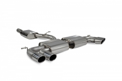 Scorpion VW Golf R MK7.5 (facelift) Resonated cat-back exhaust system without valves