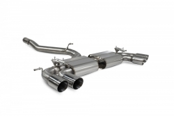 Scorpion VW Golf R MK7.5 (facelift) Non-res cat-back exhaust system with valves